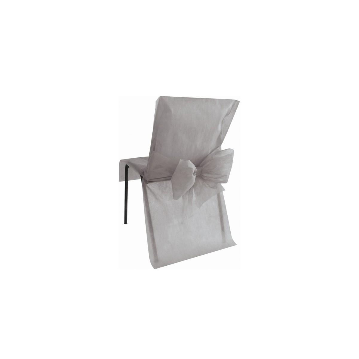 10 housses de chaise grises les p tites f es. Black Bedroom Furniture Sets. Home Design Ideas