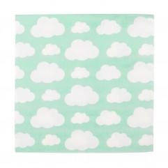 20 serviettes nuage