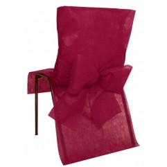 10 Housses de chaises bordeaux