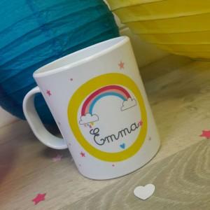 Incassable Mug Fée clochette Fée cristal personnalisé avec prénom V1 tasse