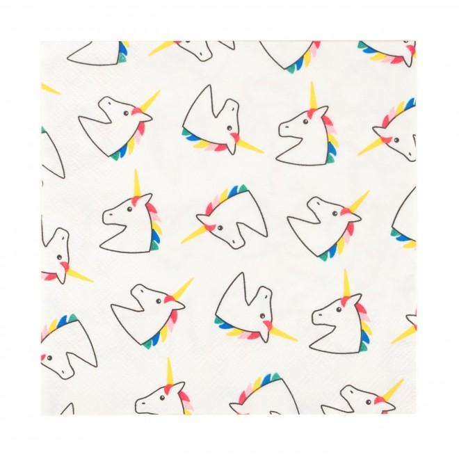 20 serviettes licornes