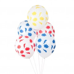 5 Ballons imprimé super héros