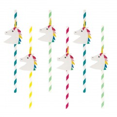 12 pailles licorne