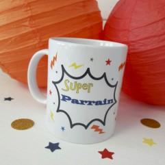 "Mug ""super parrain"" super héros"