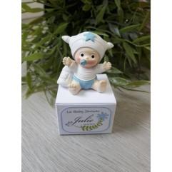 Boite en carton bébé bleu