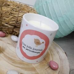 """Pot Bougie """"oiseau"""" personnalisable"""