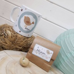 Mug incassable oiseau + Coeurs au chocolat (M)
