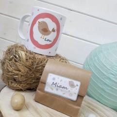 Mug incassable oiseau + Coeurs au chocolat (R)