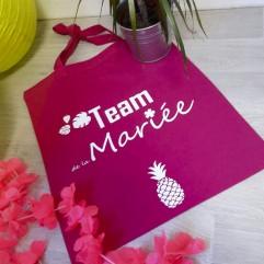 """Tote Bag """"Team de la mariée""""ananas"""