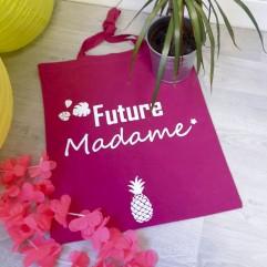 """Tote Bag """"Future Madame""""ananas"""