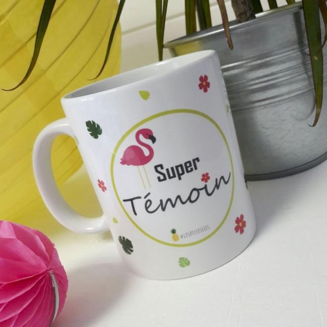 """Mug """"Super Témoin"""" ananas"""