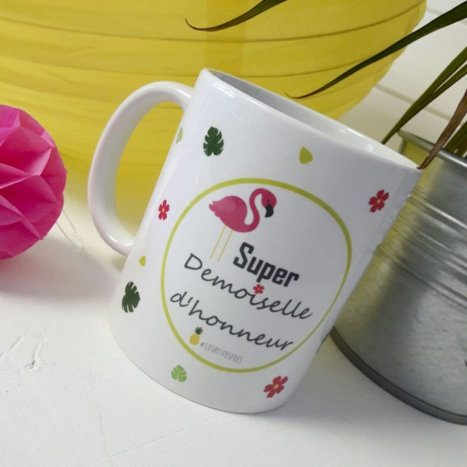 mug super demoiselle d 39 honneur ananas id es cadeau mariage. Black Bedroom Furniture Sets. Home Design Ideas