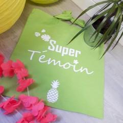 "Tote Bag ""Super Témoin"" ananas"