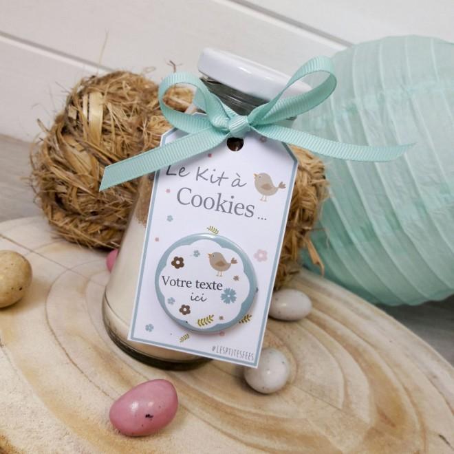 """Kit à cookies personnalisable """"oiseau"""""""
