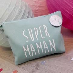 Trousse mint super maman personnalisable