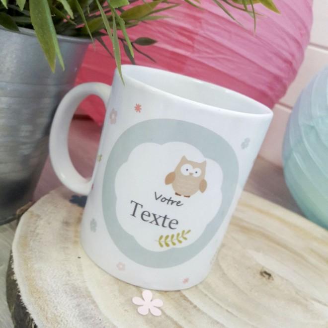 Mug personnalisable hiboux