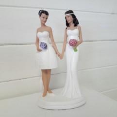Figurine gâteau - 2 femmes