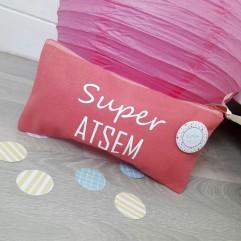 Pochette Super Atsem + badge (plage)