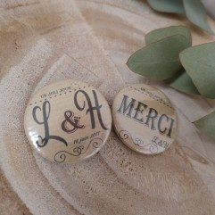 "Badge 37mm ""vintage kraft"""""