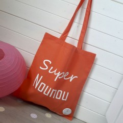 "Tote Bag ""Super Nounou"" plage"