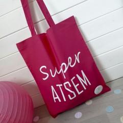 "Tote Bag ""Super ATSEM"" plage"