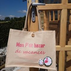 """Cabas """"Mon petit bazar de vacances"""""""