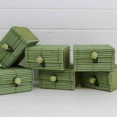 6 boites à secret vertes