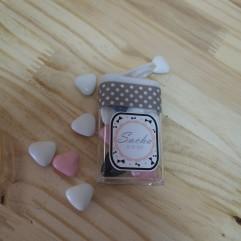"""Boite rectangle """"les tout doux"""" rose"""