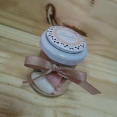Petit pot avec aimant noeud