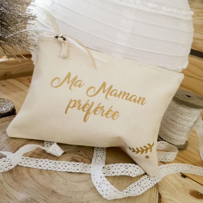 trousse beige maman préférée   idées cadeaux de noel
