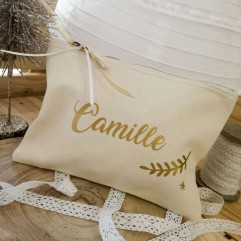 "Trousse beige personnalisable ""collection Faon"""