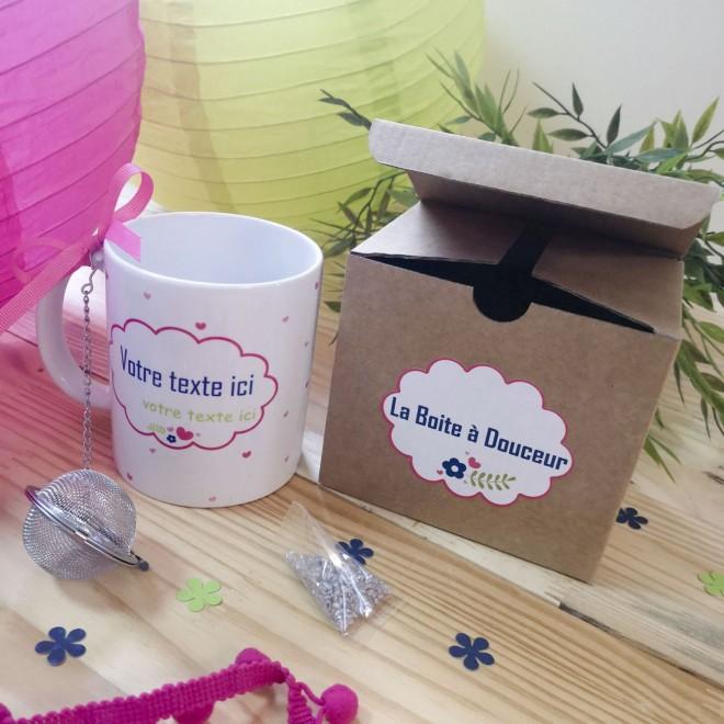 Coffret Mug personnalisable + boule à thé