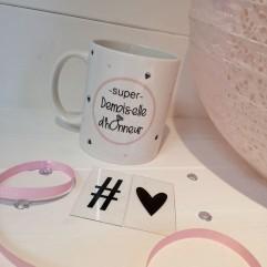 "Mug ""Super Demoiselle d'Honneur"" Diamant"