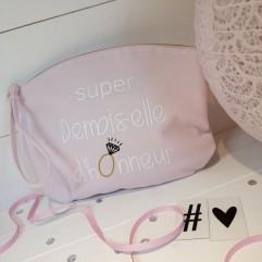 """Pochette """"Super Demoiselle d'Honneur"""" diamant"""