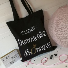 "Tote Bag ""Super Demoiselle d'Honneur"" Diamant"