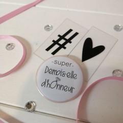"""Pochon """"Super Demoiselle d'honneur """" Diamant"""