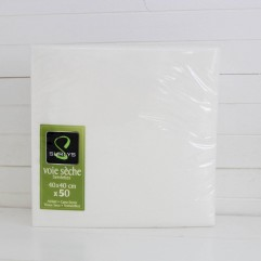 50 serviettes blanches