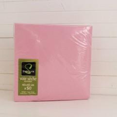 50 serviettes rose