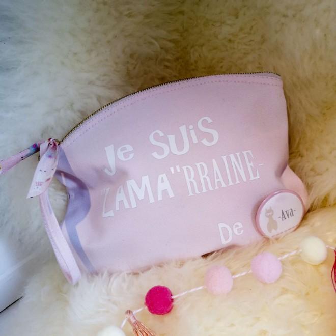 """Pochette """"Je suis LAMArraine de ..."""" rose"""
