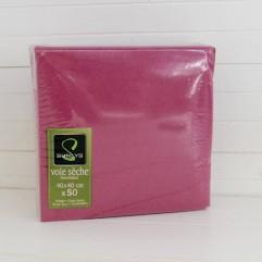 50 serviettes framboise