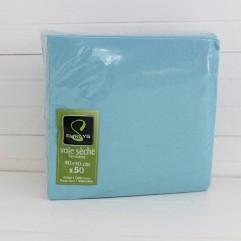 50 serviettes turquoise