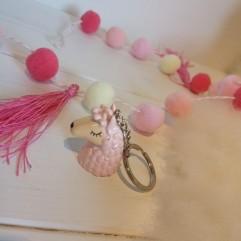 Lama porte clé rose