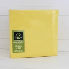 50 serviettes jaune