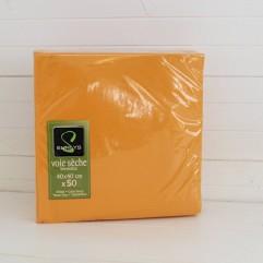 50 serviettes orange