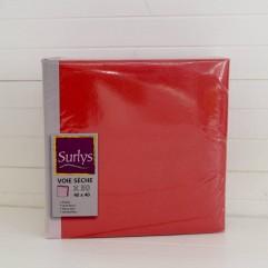 50 serviettes rouge