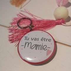"""Badge & Co Tu vas être mamie """"coeur"""""""
