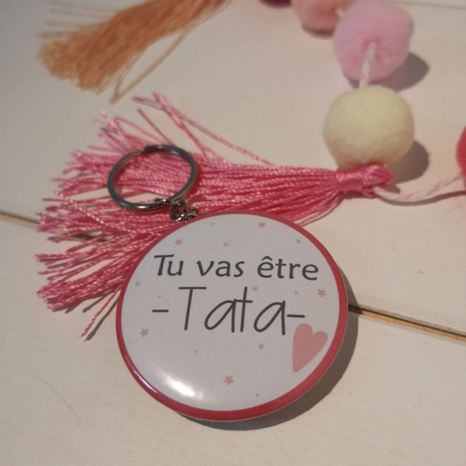 "Badge & Co Tu vas être Tata ""coeur"""