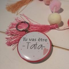 "Badge & Co Tu vas être Tata ""coeur"""