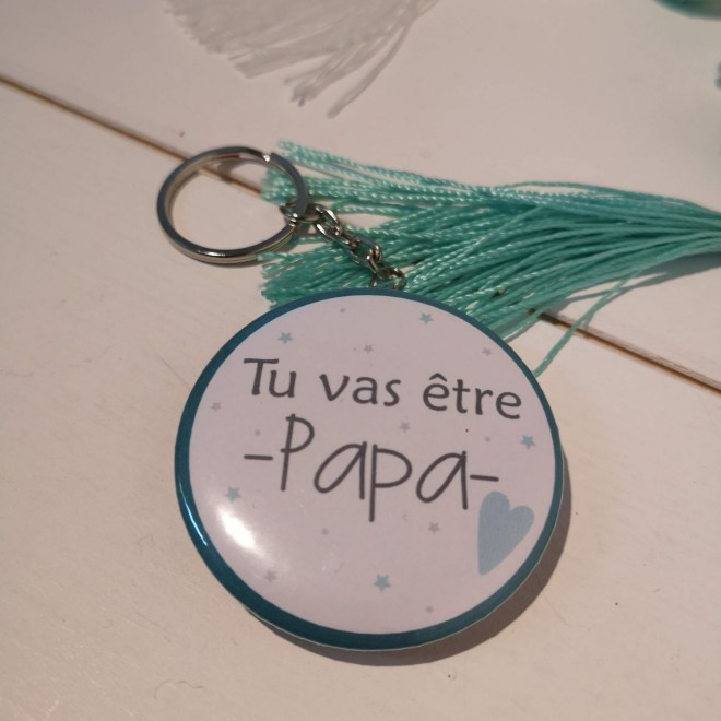 Badge & Co Tu vas être papa coeur