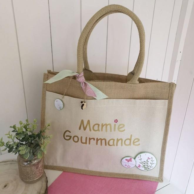 Sac en jute Mamie Gourmande